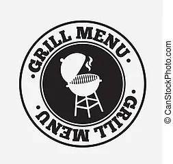 Grill menkarte aus abbildung vektor schwarzer