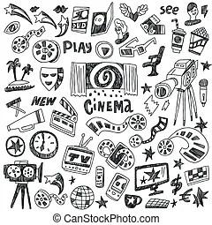 Kino Illustrationen und Stock Kunst. 107.940 Kino