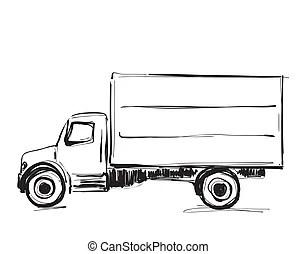 Illustration skizze baum freigestellt hand