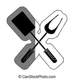 Grafik menkarte besteck vektor icon design kueche