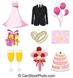 Verlobung  einladung Brief abstrakt verlobungsringe abbildung rosen hintergrund paar rolle