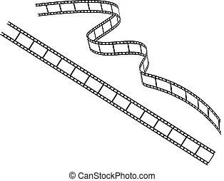 Rolle, film- streifen. Streifen, freigestellt, filmen rolle.