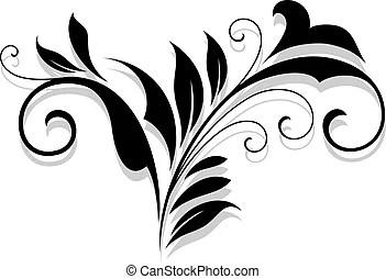 Schnörkel, rahmen, kalligraphie, design. Dekorativ