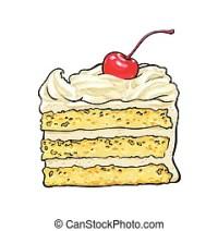 Kirschen, vanille, dekoration, berlagert, schmieren stck ...