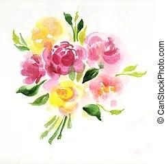 Blumengebinde Illustrationen und Stock Art 119269