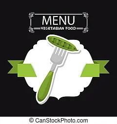 Menkarte vegetarier gemuese abbildung frchte