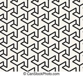 Dreieck, muster, seamless, zickzack, vektor, schwarz