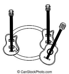 Clásico y bajo guitarras eléctricas con la combinación