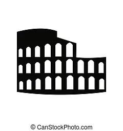 Coliseo romano. ilustración de bocetos para uso de diseño.