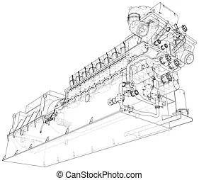 Compresorde gas clip art vectorial libre de regalías. 147