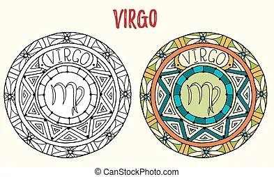 Virgo Tema Elementos Constelación Vectores Eps Buscar Imágenes