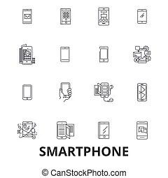 Ipad, app, applications., iphone, iconos. Ipad, conjunto