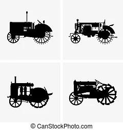 Tractores Ilustraciones vectoriales de clipart. 40.237
