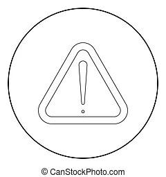 couleur attention noir icone signe