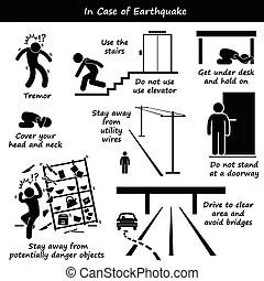 Danger, prudence, accident, sécurité, signe. Ensemble