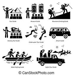 Guide touristique, pictogramme clipart vectoriel