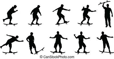 Clip Art et Illustrations de Skateboard. 8 049 dessins et