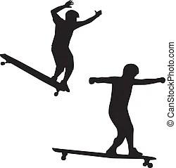 Clip Art et Illustrations de Longboard. 1 213 dessins et