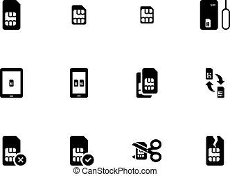 Code, icônes, mobile, téléphone portable, qr. Balayage
