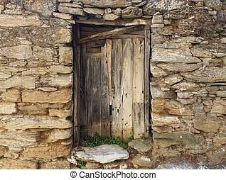 輪子. 石頭. 老. 打破. 牆. 葡萄酒. 傳統. 背景。. france.. 木頭. 普羅旺斯.   CanStock