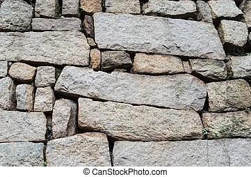 牆, 石頭, 分層堆積. 石頭, 牆, 曬黑, 分層堆積, 套間.