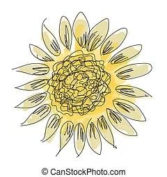 國家. 邊框. 向日葵. 層. 全部. 或者. 向日葵. 不. editing.. 產生. 被隔離. 快. 貼上標籤. 背景。. 明亮. 矢量. 插圖 ...