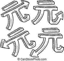 國際符號. 集合. 貨幣. 法郎. 風格. 集合. 日元. 貨幣. 古希伯來或巴比倫的衡量單位. 符號. 分. 盧布. 被贏得. 元 ...