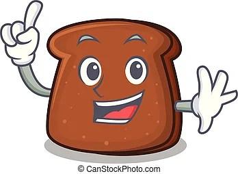 烤面包, 愉快, 薄片, 指, bread. 烤面包, 薄片, 指, 字, bread, 卡通, 愉快. | CanStock