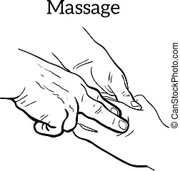 Massage spa therapy line drawing vector eps 10.