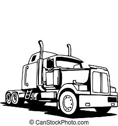 18 wheeler Illustrazioni e Clip Art. 893 18 wheeler