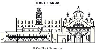 Skyline citt padova italia Padova skyline citt italia lineare