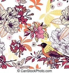 Albero carta da parati rami seamless uccello Rami carta da parati albero seamless uccello