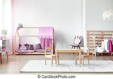 Roze beren witte  meiden slaapkamer Schattig klein
