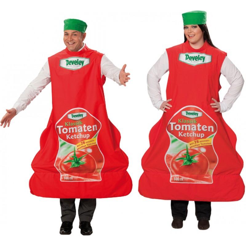 Ketchup Flasche Kostm fr Mnner und Frauen