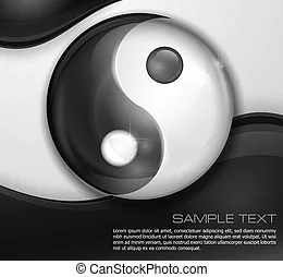 https www canstockphoto com black and white yin yang symbol 44394463 html
