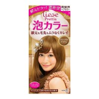 KAO LIESE PRETTIA Bubble Hair Dye Marshmallow Brown 1set ...