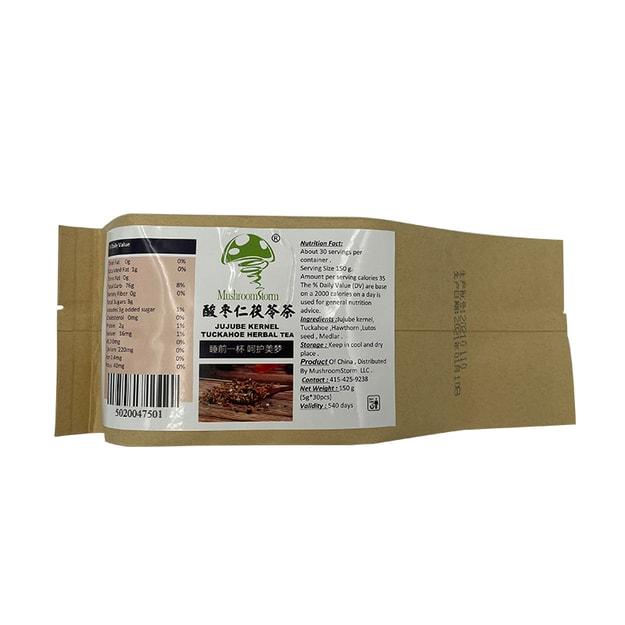 【安神助眠】酸棗仁茯苓茶 30包 150克 養生改善失眠多夢質量差 Mushroomstorm品牌 - 亞米網