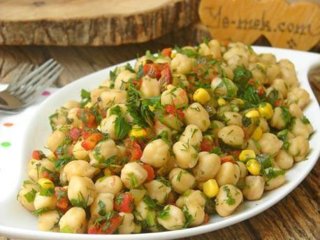 Nohut Salatası Tarifi, Nasıl Yapılır? (Resimli)   Yemek Tarifleri