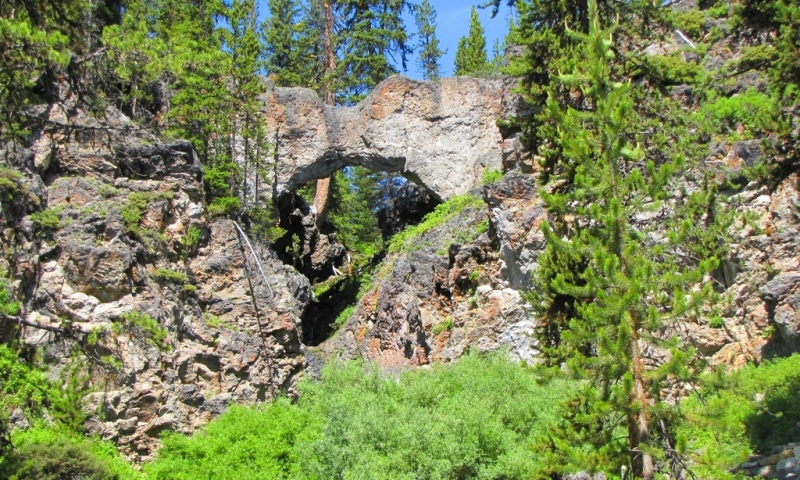 Natural Bridge in Yellowstone  AllTrips