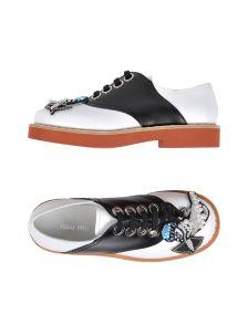 MIU MIU ΠΑΠΟΥΤΣΙΑ Παπούτσια με κορδόνια
