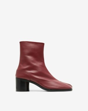 Maison Margiela Tabi Boots & Ankle Boots Maroon