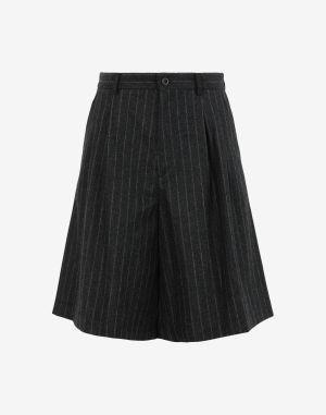 Maison Margiela Shorts And Bermudas Steel Grey Virgin Wool