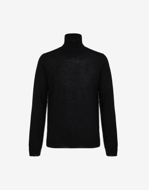 Maison Margiela High Neck Sweater Black Wool