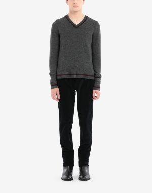 Maison Margiela V-neck Sweater Steel Grey
