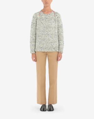 Maison Margiela Crewneck Sweater Ivory