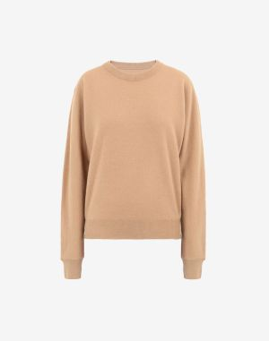 Maison Margiela Crewneck Sweater Camel Wool, Cashmere