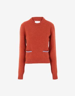 Maison Margiela Crewneck Sweater Rust Wool
