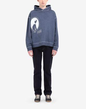 Maison Margiela Hooded Sweatshirt Slate Blue