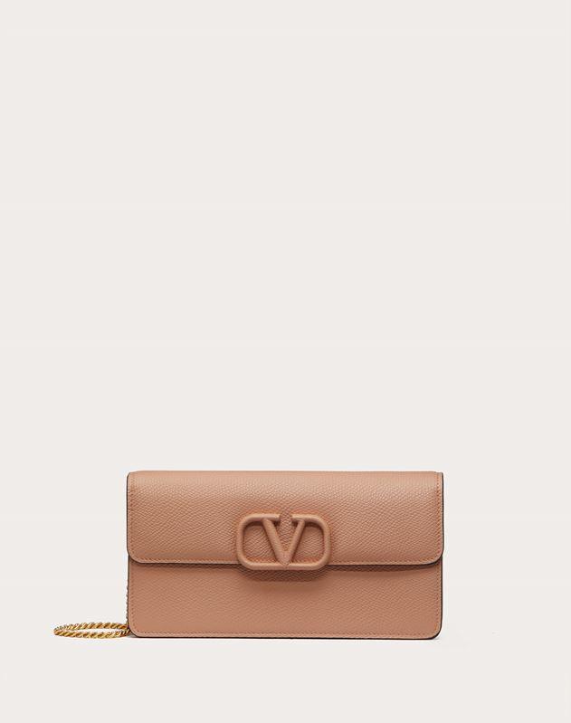 vsling grainy calfskin wallet