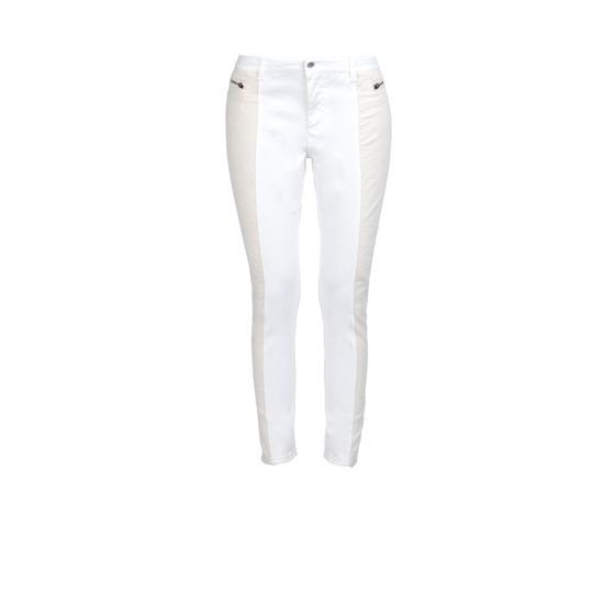 Stella McCartney Leilani Organic two-toned white and cream denim jeans pants